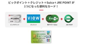 ビックカメラSuicaカードは、ビックポイント・クレジット・Suica・JRE POINTが1つになった便利なカード