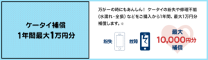 携帯補償一年間最大1万円分